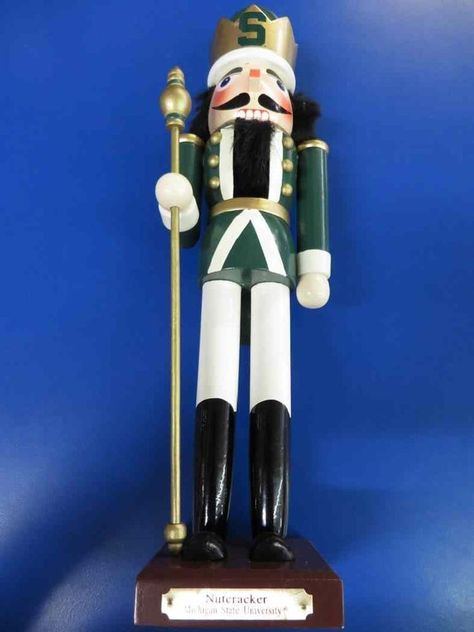 Michigan State Spartans NCAA College Gift Rare Christmas Collectible Nutcracker #MemoryCompany #MichiganStateSpartans