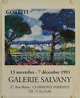 Affiche GORRITI 1991 Exposition Galerie Salvany - Clermont Ferrand #Antiquités