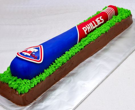 ~Philadephia Phillies Baseball Bat Cake - Tutorial~