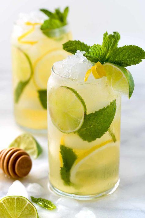 Naturally Sweetened Iced Green Tea - Jessica Gavin