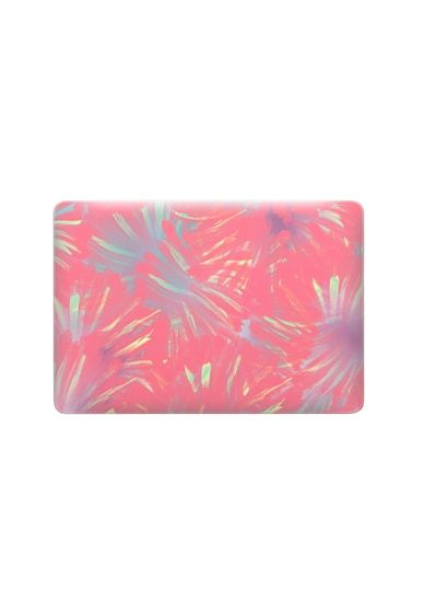 new styles f7061 2a1e3 Macbook Snap MacBook Air 13-inch Case - Abstract Living coral lime ...