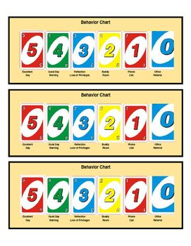 Individual Behavior Chart Uno Game Theme Board Game Themes Game Themes Classroom Games