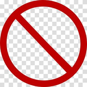 No Sign Traffic Sign Stop Sign Red Cross Transparent Background Png Clipart