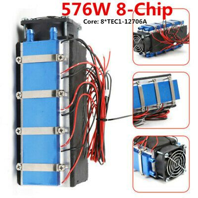 Details About 12v 576w 8 Chip Tec1 12706a Thermoelectric Peltier Cooler Diy Air Cooling Tool In 2020 Cool Stuff Cooling Fan Diy Cooler