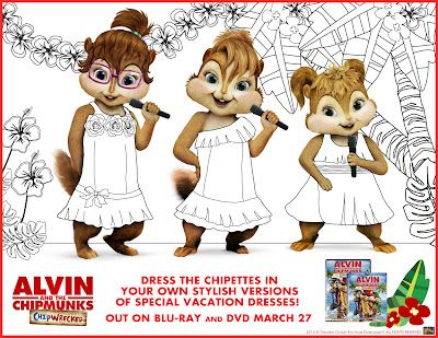 Alvin the Chipmunks Feature - Crafts for Mini \'Munks & fun activity ...