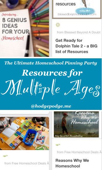 Resources for Multiple Ages at The Ultimate Homeschool Pinning Party