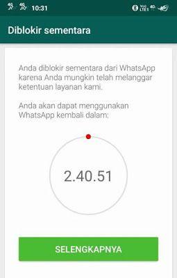 Cara Mengatasi Whatsapp Diblokir Sementara Whatsapp Diblokir Blokir Whatsappmod Aplikasi Tips Penegak Hukum