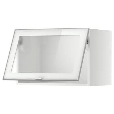 Metod Wall Cab Horizontal W Glass Door Black Jutis Smoked Glass Ikea Porte Verre Ikea Et Produits Ikea
