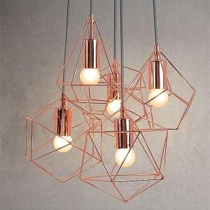 Copper Cage Pendant Multi Light Create A Striking Impact In Your Living Space With This Poli Copper Ceiling Lights Cage Pendant Light Ceiling Pendant Lights
