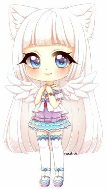 Chibi Girl With Wings Chibi Girl Drawings Cute Anime Chibi Kawaii Chibi