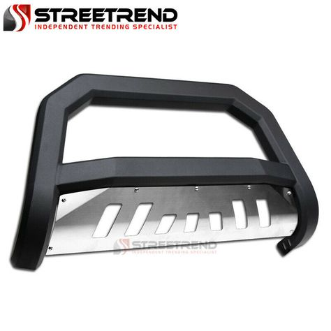 For 2010-2018 Jeep Wrangler Jk Matte Black AVT Edge Bull Bar Brush Bumper Guard