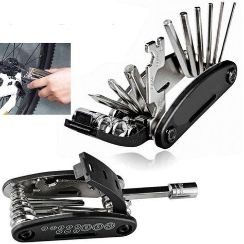 16 In 1 Bike Repair Tool Mini Multifunction Folding Screwdriver