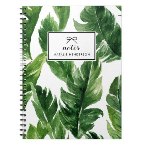 Watercolor Green Tropical Leaves Pattern Notebook Zazzle Com Tropical Leaves Pattern Pattern Notebooks Tropical Leaves This stylish, tropical palm leaf notebook has a beautiful matte cover with 120 wide ruled lined pages. pinterest