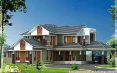 Kerala Home Design Front Elevation With Modern Home Exterior Images Using Rcc House Design Ground Fl Model House Plan Modern House Exterior Kerala House Design