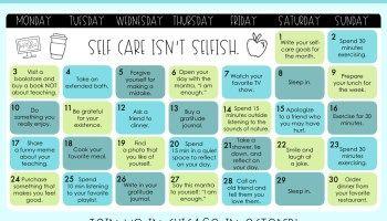 October] Teacher Self-Care Calendar    DOWNLOAD NOW