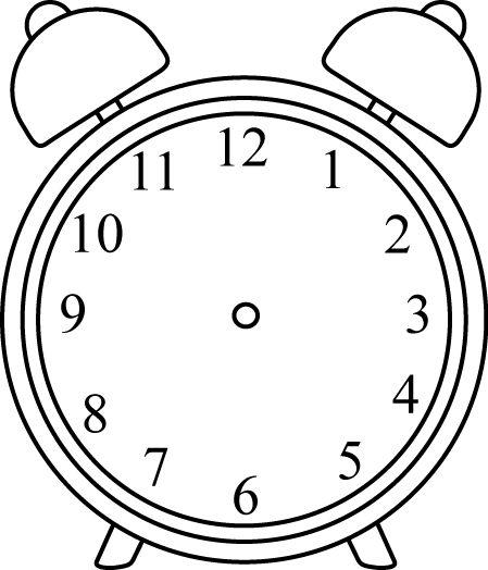 Black And White Alarm Clock Without Hands Clip Art Black And White Alarm Clock Without Hands Image Relogio Desenho Ideias Para Relogio Atividades