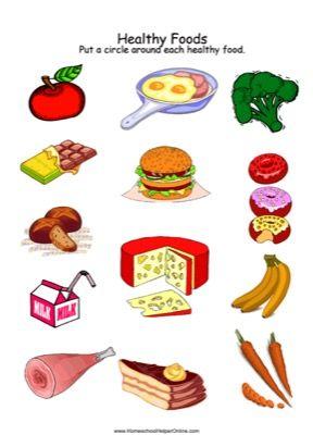 Healthy Foods Worksheet | Healthy, unhealthy food, Healthy ...