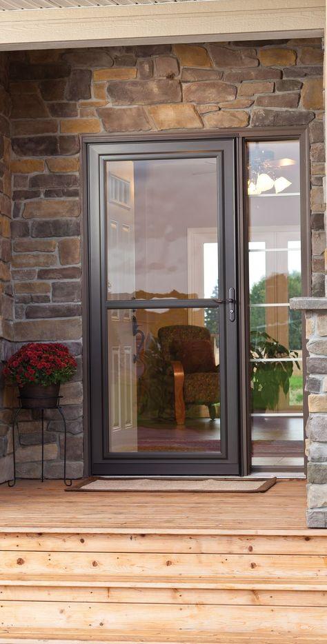 Unlike Other Exterior Doors The Larson Lakeview Screen Away Is A Storm Door And A Screen Door All In On Glass Screen Door Exterior Doors Aluminum Screen Doors