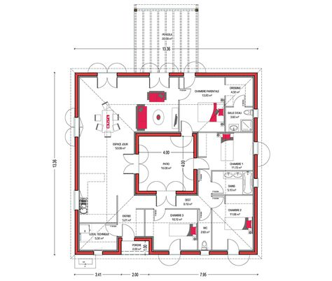 ouleurs Villa vous propose la Villa Mae, moderne, contemporaine