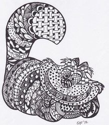 Zentangle Cheshire Cat From Alice In Wonderland Drawing Instant Download PDF Adult ColoringColoring PagesDoodle