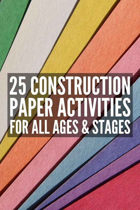 Fun At Home: 25 Construction Paper Crafts for Kids We Love This collection of construction paper crafts for kids of all ages helps develop fine motor skills, hand eye coordination, scissor skills, and more! Construction Paper Crafts, Construction For Kids, Paper Art Projects, Easy Art Projects, Paper Crafts For Kids, Easy Crafts For Kids, Diy Crafts, Paper Art And Craft, Tree Crafts