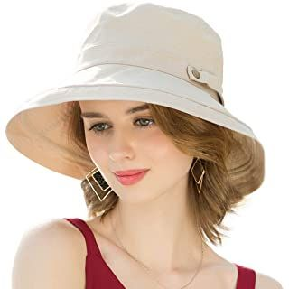 Amazon Com Comhats Womens Summer Flap Cover Cap Cotton Upf 50 Sun Shade Hat With Neck Cord Clothing Wide Brim Sun Hat Sun Hats For Women Shade Hats