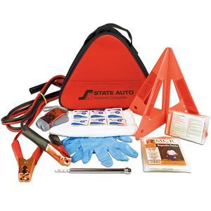 Deluxe Triangle Auto Safety Kit With First Aid Kit Car Emergency Kit Emergency Kit Safety Kit