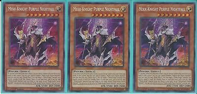 Near Secret Rare 1st Edition 1x Mekk-Knight Purple Nightfall MP18-EN183