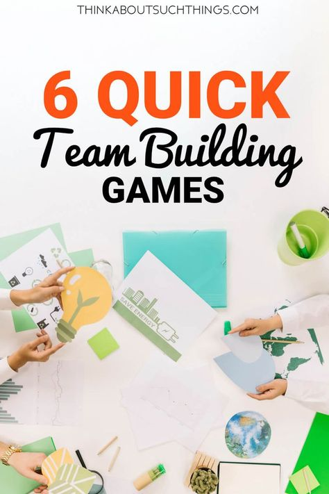 6 Quick Team Building Games to Energize your team Quick Team Building games and exercises for your next event or meeting. Build a stronger team! Team Building Icebreakers, Team Building Activities For Adults, Team Building Quotes, Team Building Exercises, Icebreakers For Meetings, Building Ideas, Office Team Building Activities, Classroom Icebreakers, Team Building Events