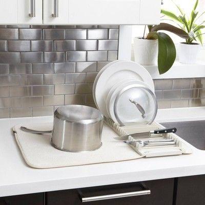 Plastic Udry Dish Drying Mat White Umbra Dish Rack Drying Dish Drying Mat Simple Storage