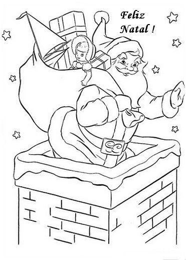Natal Atividades Desenhos Noel Neve Present Rena202 Jpg 371 519