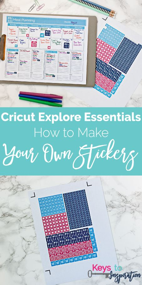 Cricut Explore Essentials How To Make Your Own Stickers