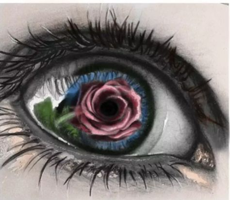 I found this eye in black and white here on Pinterest. I didn't save it.l, but here it is colored.