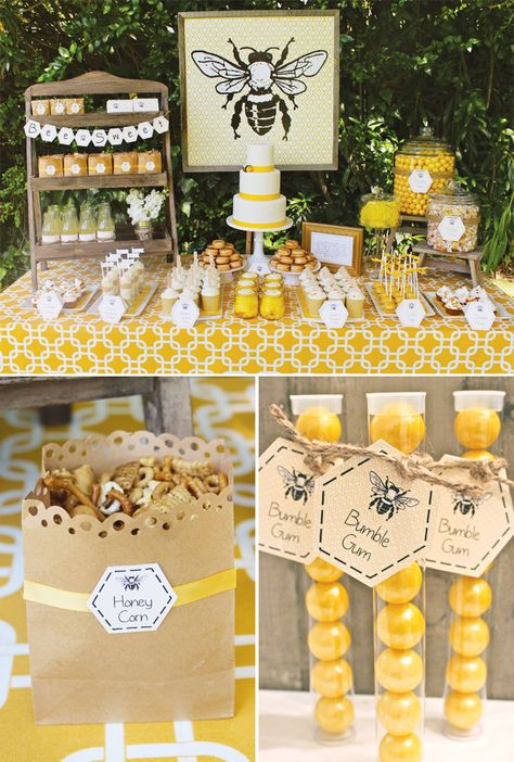Baby Bumble Bee Party Adorable Baby Bumble Bee Party // Hostess with the ill save this one for when I have a little girl. My Baby B :-)Adorable Baby Bumble Bee Party // Hostess with the ill save this one for when I have a little girl. My Baby B :-) Baby Bumble Bee, Bumble Bee Birthday, Bumble Bees, Bumble Bee Cake, Bumble Bee Nursery, Mommy To Bee, Party Decoration, Bee Decorations, Festa Party