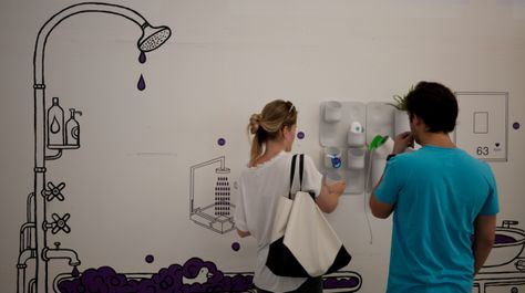 Reveeco's EcoVéa shower is an ecological smart shower system that filters dirty water and sends it back to the shower head for re-use, reducing waste and water consumption.