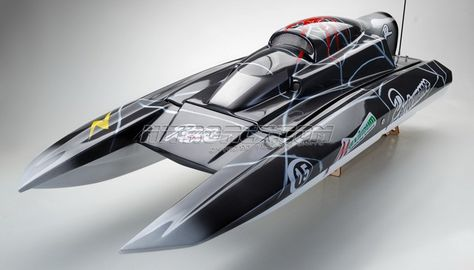 Exceed Racing FiberGlass SPIDER 26CC Gas Powered ARTR Almost Ready to Run Speed Boat