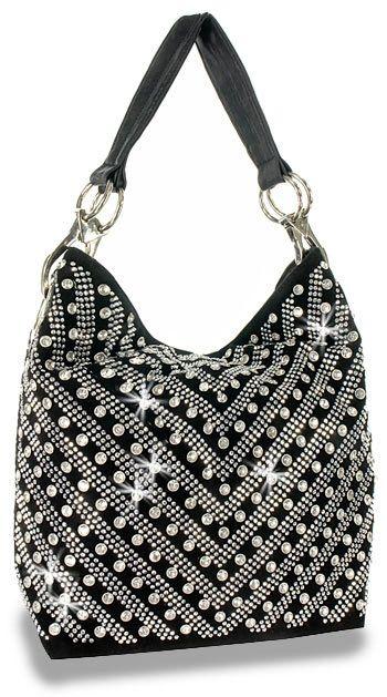 Crystal Rhinestone Metallic Pewter Fashion Shoulder Bling Handbag Purse Sparklebags Handbags Style Pinterest