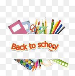 School Supplies School Clipart Back To School Png Transparent