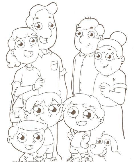 Desenhos Para Colorir Familia Para Colorir Dia Da Familia