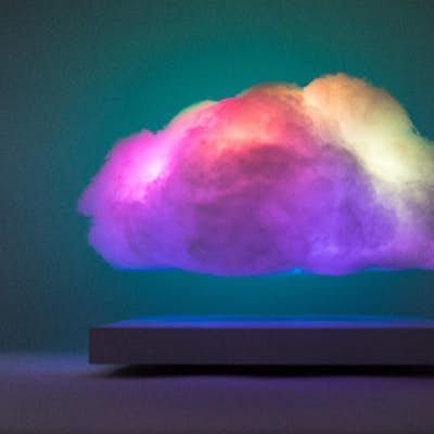 This Floating Cloud Lamp Is A Mini Thunderstorm For Your Coffee Table Cloud Lamp Clouds Clouds Design