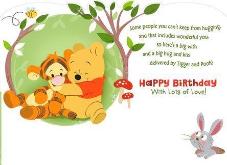 Winnie The Pooh Birthday Card For Grandson Winnie The Pooh Birthday Happy Birthday For Her Grandson Birthday Wishes