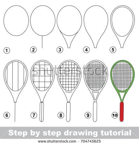 Kid Game To Develop Drawing Skill With Easy Gaming Level For Preschool Kids Drawing Educational Tutorial For Easy Drawings Tennis Drawing Doodle Art Journals