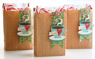 emboss brown paper bags with an embossing plate