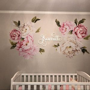 Flower Decals Large Pink And Red Flower Decals Wall Stickers