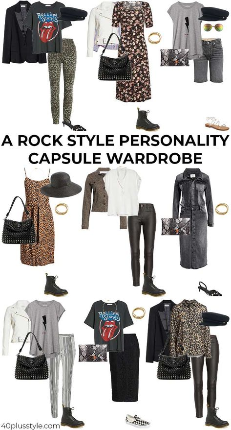 Rock style - style guide and capsule wardrobe for the ROCK style