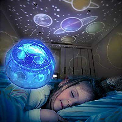 Sternenhimmel Projektor Lampe Kinder Baby Led Nachtlicht Schlummerleuchten Sterne Nachtlicht Projektor Drehbar Mit 3 Leds 8 Licht Ball Exercises Exercise Gym