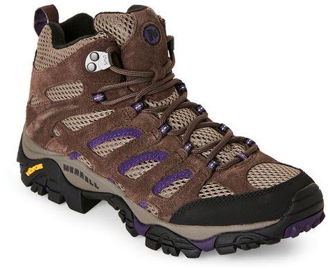 Merrell Brown   Purple Moab Ventilator Hiking Sneakers  99cdffe2312b0