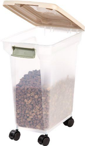 Dog Food Storage Container 28 Quart 20 Pounds Rollers Pet Supplies