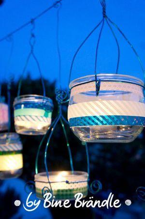 Garten Bine Brandle Windlichter Basteln Glas Windlichter Garten Lichterglaser