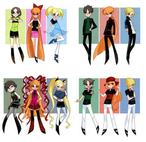 The Powerpuff Girls, Rowdyruff Boys, Powerpunk Girls, & Rowdyright Boys Cartoon As Anime, Cartoon Art, Cartoon Characters, Power Puff Girls Z, Power Girl, Super Nana, Ppg And Rrb, Animes Wallpapers, Cartoon Network